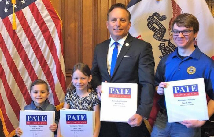 Pate Files Nomination Papers With Signatures From All 99 Counties