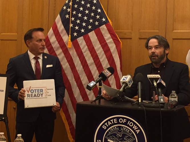 Iowa Secretary of state kicks off voter education effort